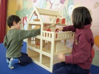 Play is one of the best ways for children to learn language and literacy skills. Find the dollhouse on the stage in Youth Services, and let your children use their imaginations!