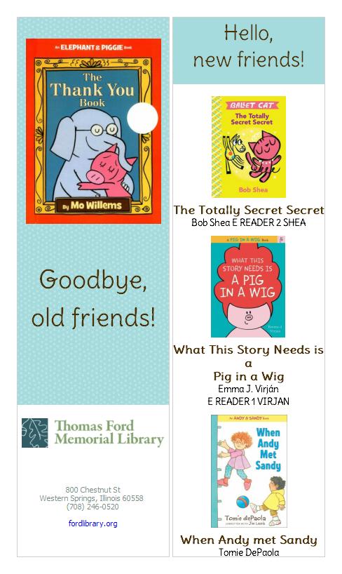 Picks for Kids – Thomas Ford Memorial Library